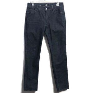 LOFT Curvy Straight Dark Wash Jeans Size 6 / 28